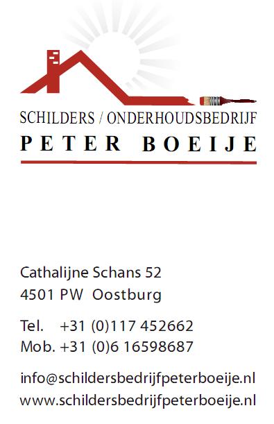 Peter Boeije visitekaartje