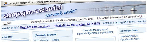 Startpagina Zeeland