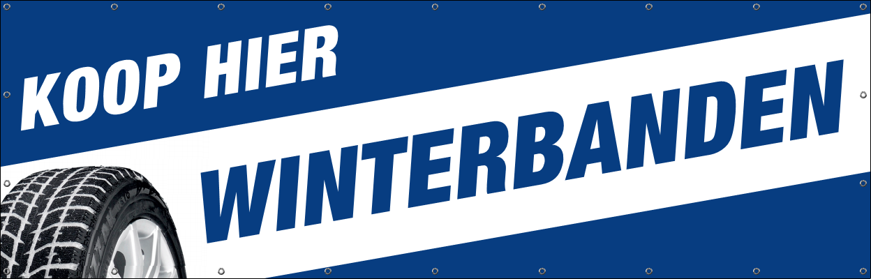 winterbanden spandoek