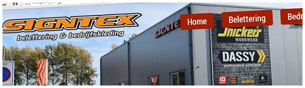 Signtex belettering bedrijfskleding